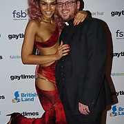Talulah-Eve,Steven Saxby attend the Gay Times Honours on 18th November 2017 at the National Portrait Gallery in London, UK.