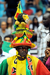 September 15, 2017 - Tunis, Tunisia - Supporters of Senegal  during the semi-final of FIBA AfroBasket 2017....Afrobasket 2017: Semifinal: Senegal eliminated by Nigeria who find Tunisia in the final   (Credit Image: RealTime Images)