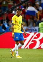 Kazan, Russia - July 6 : Neymar forward of Brazil during the FIFA 2018 World Cup Russia Quarter-final match between Brazil and Belgium at the Kazan Arena Stadium on July 6, 2018 in Kazan, Russia, 6/07/2018 <br /> Brasil - Belgia