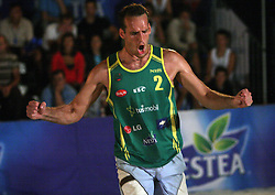 Bojan Kristan (Kalcer & Alfa-M Team) at qualifications for 14th National Championship of Slovenia in Beach Volleyball and also 4th tournament of series TUSMOBIL LG presented by Nestea, on July 25, 2008, in Kranj, Slovenija. (Photo by Vid Ponikvar / Sportal Images)/ Sportida)