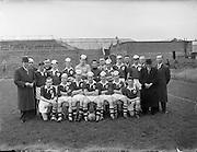 24/05/1958<br /> 05/24/1958<br /> 24 May 1958<br /> Soccer, Schoolboy International: England v Ireland at Dalymount Park, Dublin. The Irish team.