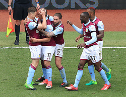 23 April 2017 - EFL Championship Football - Aston Villa v Birmingham City - Gabby Agbonlahor of Aston Villa celebrates after scoring the opening goal for his side (1-0) - Photo: Paul Roberts / Offside