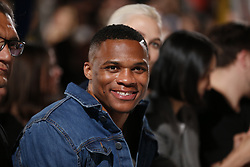 Basketball star and MVP Russell Westbrook sits front row during the Calvin Klein Fashion Show at New York Fashion Week Spring Summer in new York NY on September 7, 2017. (Photo by Jonas Gustavsson/Sipa USA)