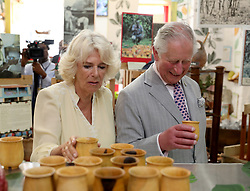 The Prince of Wales and the Duchess of Cornwall visit the House of Chocolate during a one day visit to the Caribbean island of Grenada.