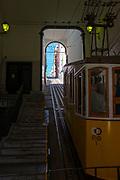 Ascensor da Bica, Bica Funicular, Lisbon, Portugal