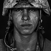"Aug 26, 2008 - Garmsir District, Helmand Province, Afghanistan - U.S. Marine Lcpl. Patrick ""Sweetums"" Stanborough, age 21 who is part of Alpha Company of the 24th Marine Expeditionary Unit (MEU) Battle Landing Team (BLT) 1/6, after a patrol in Garmsir District, Helmand Province, Afghanistan at Forward Operating Base Apache North. Located in Southern Helmand Province, Garmsir has been a haven for insurgents for the last several years. Earlier this year the Marines cleared the area after a period of heavy fighting. Patrick is from Carmel NY and he has also done a tour of Iraq in addition to this tour.<br /> (Credit Image: © Louie Palu/ZUMA Press)"