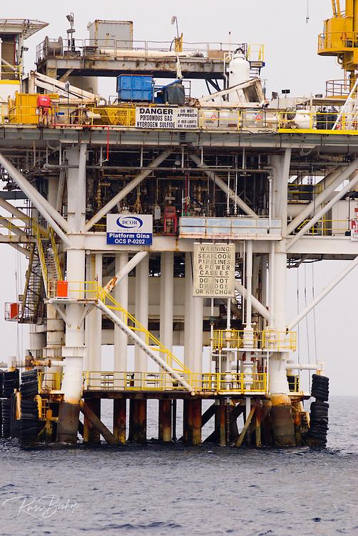 Off-shore oil platform in the Santa Barbara Channel, California USA