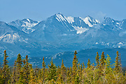 Glaciers. Kluane Ranges, the easternmost of the St Elias Mountains. <br />Kluane National Park<br />Yukon<br />Canada