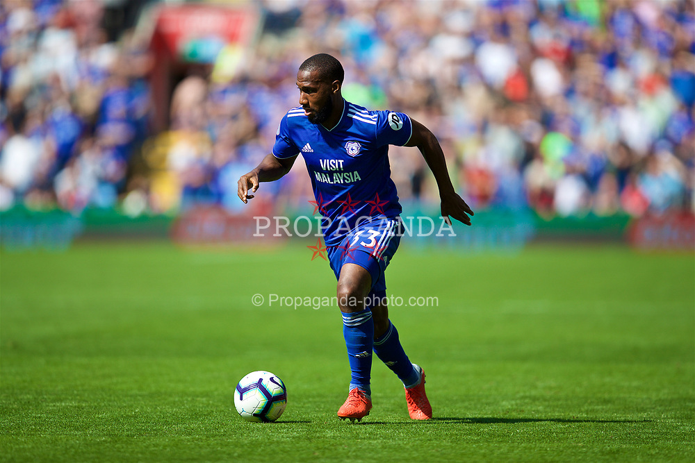 CARDIFF, WALES - Sunday, September 2, 2018: Cardiff City's Junior Hoilett during the FA Premier League match between Cardiff City FC and Arsenal FC at the Cardiff City Stadium. (Pic by David Rawcliffe/Propaganda)