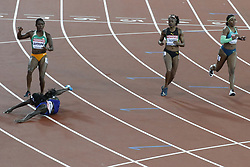 USA's Tori Bowie in line 7 wins the 100 meters women with Ivory Coast's Marie-Josee Ta-Lou for silver medal and Netherlands Dafne Schpers for bronze during the IAAF World Athletics 2017 Championships In Olympic Stadium, Queen Elisabeth Park, London, United Kingdom on August 6th, 2017 Photo by Henri Szwarc/ABACAPRESS.COM