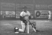 Willie Mays, game at Civic Stadium. Beavers vs San Francisco Giants. May 8, 1958