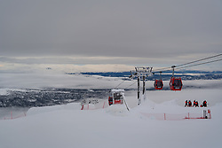 February 8, 2019 - Re, SWEDEN - 190208 General view of a lift system during the FIS Alpine World Ski Championships on February 8, 2019 in re..Photo: Joel Marklund / BILDBYRN / kod JM / 87851 (Credit Image: © Joel Marklund/Bildbyran via ZUMA Press)