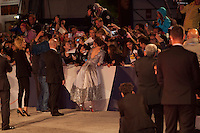 Actress Kristen Stewart being photographed with fans at the gala screening for the film Equals at the 72nd Venice Film Festival, Saturday September 5th 2015, Venice Lido, Italy.