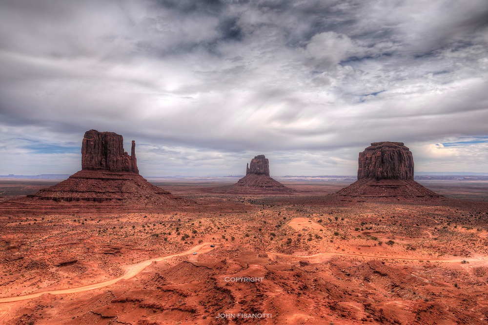 Left and Right Mitten, Monument Valley, Utah