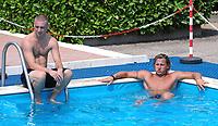 Daniele De Rossi e Philippe Mexes in piscina<br /> Roma 22/7/2008 Centro Sportivo Trigoria (Roma)<br /> Ritiro precampionato AS Roma Calcio<br /> AS Roma pre season training<br /> Foto Andrea Staccioli Insidefoto