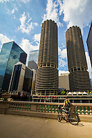 Marina City Complex & Chicago River