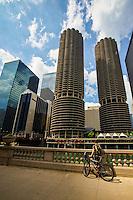 Marina City Complex & Chicago River