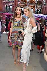 Left to right, Lady Alice Manners and Flora Ogilvy at the Victoria & Albert Museum's Summer Party in partnership with Harrods at The V&A Museum, Exhibition Road, London, England. 20 June 2018.