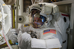 EARTH Aboard the International Space Station -- 02 Mar 2016 -- Scott Kelly and Mikhail Kornienko return to Earth after a record 340 days in space.File image dated Oct 2015 of NASA astronaut Scott Kelly as tried on his spacesuit shortly before a spacewalk in October 2015. The pair landed safely today after spending a total of 340 days in space aboard the ISS. EXPA Pictures © 2016, PhotoCredit: EXPA/ Photoshot/ Atlas Photo Archive/NASA<br /><br />*****ATTENTION - for AUT, SLO, CRO, SRB, BIH, MAZ only*****