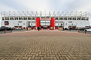 General image of The Riverside Stadium before The FA Cup 3rd round match between Middlesbrough and Peterborough United at the Riverside Stadium, Middlesbrough, England on 5 January 2019.