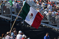Mexican flag waved by fans.<br /> United States Grand Prix, Saturday 1st November 2014. Circuit of the Americas, Austin, Texas, USA.