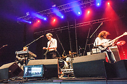 """Bombay Bicycle Club, Saturday at Rockness 2013, the annual music festival which took place in Scotland at Clune Farm, Dores, on the banks of Loch Ness, near Inverness in the Scottish Highlands. The festival is known as """"the most beautiful festival in the world"""" ."""