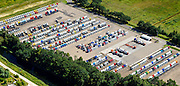 Nederland, Noord-Brabant, Eindhoven, 23-08-2016; DAF Truckfabriek, producent van bedrijfswagens, onderdeel van Paccar. Opslagterrein.<br /> DAF Truck Factory, manufacturer of trucks, a division of Paccar.<br /> luchtfoto (toeslag op standard tarieven);<br /> aerial photo (additional fee required);<br /> copyright foto/photo Siebe Swart