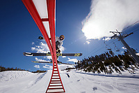 Jacob Callaghan riding the park at Keystone Mountain, Colorado, arch 2014.