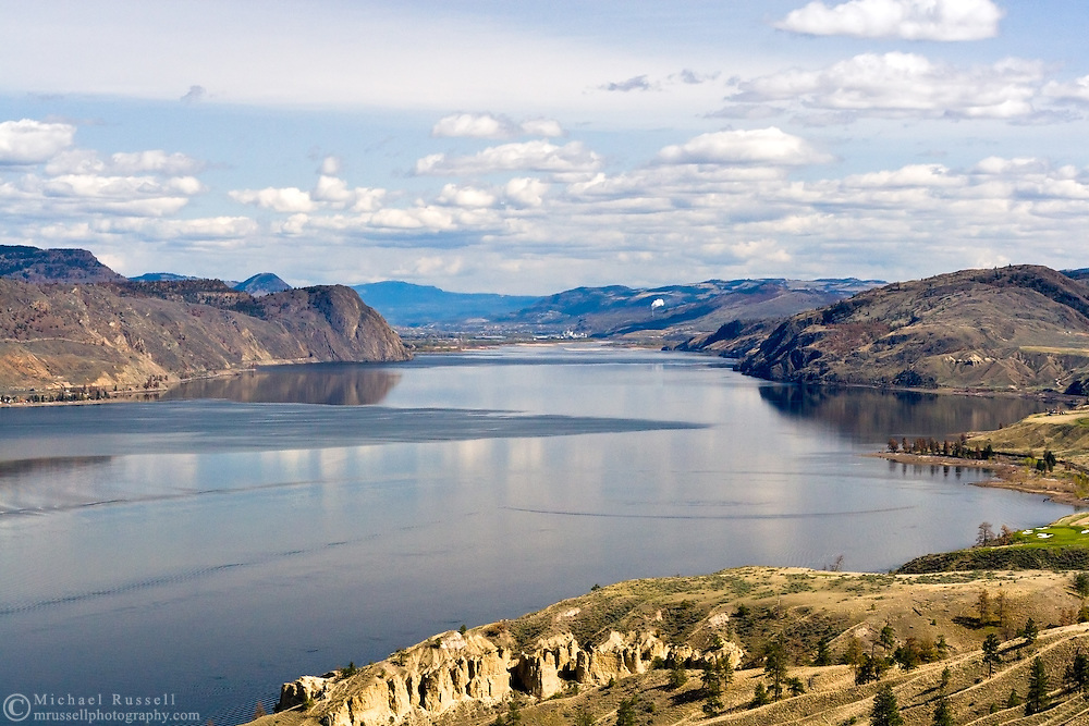 Kamloops Lake from the Trans Canada Viewpoint near Kamloops, British Columbia, Canada