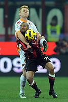 "John Arne Riise (Roma) e Robinho (Milan)<br /> Milano, 18/12/2010 Stadio ""Meazza""<br /> Milan-Roma<br /> Campionato Italiano Serie A 2010/2011<br /> Foto Nicolo' Zangirolami Insidefoto"