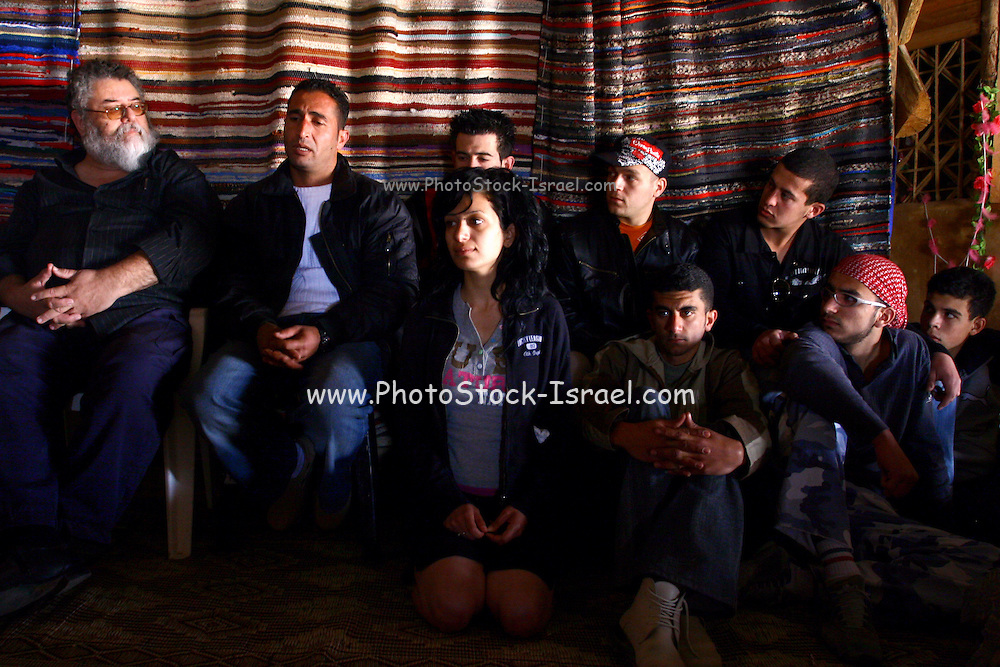 Israel, Negev, Moshav Tzofar, Arab and Jewish Israeli youth gathered for the Sulhita festival, one of three initiatives organized by the interfaith Sulha Peace Project to give Arabs and Jews a chance to mix freely in a relaxed atmosphere uninhibited by political tensions.