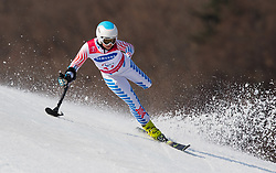 March 14, 2018 - Pyeongchang, South Korea - Stephanie Jallen during Giant Slalom competition Wednesday, March 14, 2018 at the Jeongson Alpine Center at the Pyeongchang Winter Paralympic Games. Photo by Mark Reis (Credit Image: © Mark Reis via ZUMA Wire)