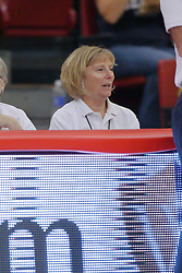 28 September 2014:   during an NCAA womens volleyball match between the Evansville Purple Aces and the Illinois State Redbirds at Redbird Arena in Normal IL
