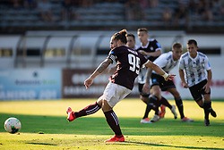 Luka Majcen of Triglav at penalty shot during football match between NK Triglav and NS Mura in 5th Round of Prva liga Telekom Slovenije 2019/20, on August 10, 2019 in Sports park, Kranj, Slovenia. Photo by Vid Ponikvar / Sportida