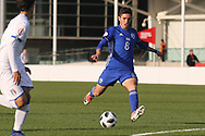 Omri Ram of Israel (8) shoots during the UEFA European Under 17 Championship 2018 match between Israel and Italy at St George's Park National Football Centre, Burton-Upon-Trent, United Kingdom on 10 May 2018. Picture by Mick Haynes.
