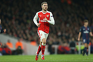 Aaron Ramsey of Arsenal looking on. UEFA Champions league group A match, Arsenal v Paris Saint Germain at the Emirates Stadium in London on Wednesday 23rd November 2016.<br /> pic by John Patrick Fletcher, Andrew Orchard sports photography.