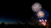 4th of July fireworks. Photographed in Studio City Los Angeles, California