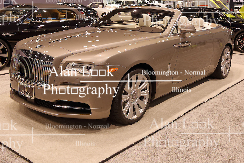 09 February 2017:  Rolls Royce Dawn convertible<br /> <br /> First staged in 1901, the Chicago Auto Show is the largest auto show in North America and has been held more times than any other auto exposition on the continent.  It has been  presented by the Chicago Automobile Trade Association (CATA) since 1935.  It is held at McCormick Place, Chicago Illinois<br /> #CAS17