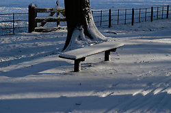 Benches outdoor and everywhere snow, sneeuw, winter, cold, wit, white