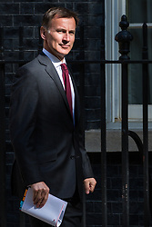 London, UK. 7 May, 2019. Jeremy Hunt MP, Secretary of State for Foreign and Commonwealth Affairs, arrives at 10 Downing Street for a Cabinet meeting.