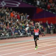 Ezekiel Kemboi, Kenya, winning the Men's 3000m Steeplechase Final at the Olympic Stadium, Olympic Park, Stratford at the London 2012 Olympic games. London, UK. 5th August 2012. Photo Tim Clayton