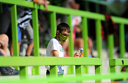 Forest Green Rovers fans watch the match from the stands socially distanced - Mandatory by-line: Nizaam Jones/JMP - 19/09/2020 - FOOTBALL - New Lawn Stadium - Nailsworth, England - Forest Green Rovers v Bradford City - Sky Bet League Two