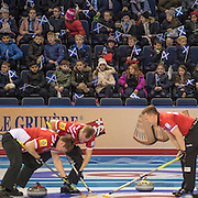 """Glasgow. SCOTLAND.  """"Inspire a Generation"""", local School children, make up an audience at the morning session at the """"Round Robin"""" session of,  the Le Gruyère European Curling Championships. 2016 Venue, Braehead  Scotland<br /> Tuesday  22/11/2016<br /> <br /> [Mandatory Credit; Peter Spurrier/Intersport-images]2/11/2016<br /> <br /> [Mandatory Credit; Peter Spurrier/Intersport-images]"""