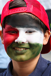 London, August 9th 2014. Protesters of all ages joined the massive crowd from all over the UK as they marched through London in support of Palestine.