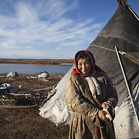 Sept 2009 Yamal Peninsula, Siberia, Russia - global warming impacts story on the Nenet people , reindeer herders in the Yamal Peninsula Bonia Vanuta