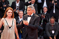 Julianne Moore and George Clooney at the premiere of the film Suburbicon at the 74th Venice Film Festival, Sala Grande on Saturday 2 September 2017, Venice Lido, Italy.