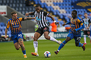 Ludwig Francilette of Newcastle United during the EFL Trophy match between Shrewsbury Town and U21 Newcastle United at Greenhous Meadow, Shrewsbury, England on 22 September 2020.