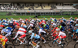 Peloton at start during Men Elite Road Race at UCI Road World Championship 2020, on September 27, 2020 in Imola, Italy. Photo by Vid Ponikvar / Sportida