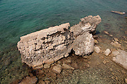 Israel, Caesarea, a town built by Herod the Great about 25 - 13 BC, The ancient harbour
