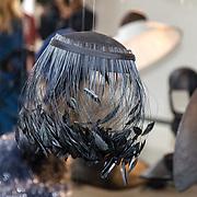 NLD/Amsterdam/20170920 - Mart Visser 20 jaar mode - The Artesia, zwarte hoed